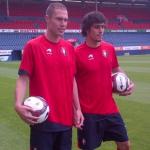 Nano y Arribas presentados como nuevos jugadores de Osasuna