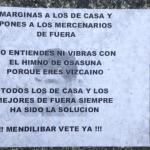 Papeletas anóminas contra Mendilíbar